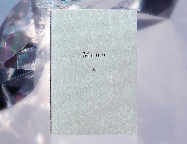 結婚式メニュー表-ビジュー 手作りメニュー表