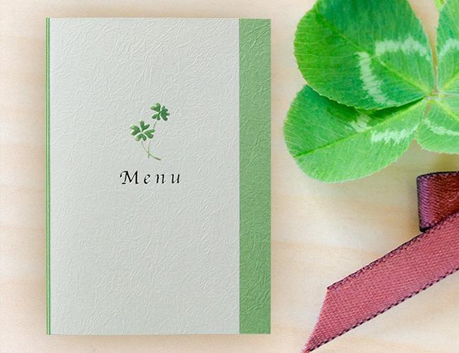 結婚式メニュー表-トレーフル 手作りメニュー表