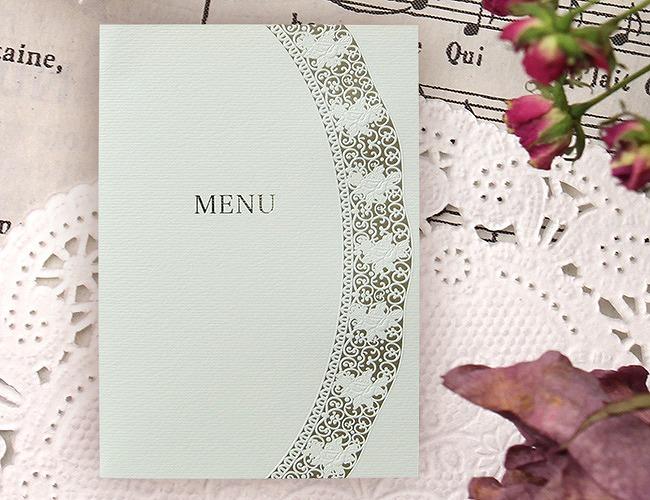 結婚式メニュー表-エスポワール 手作りメニュー表