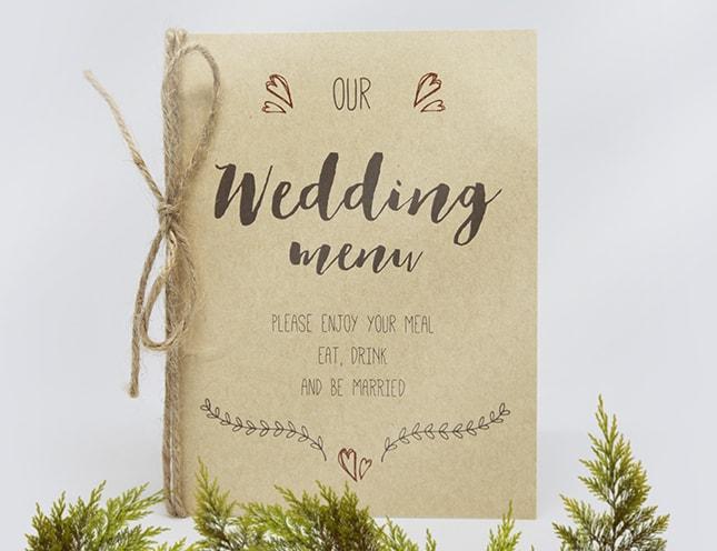 結婚式メニュー表-アワークラフト 手作りメニュー表