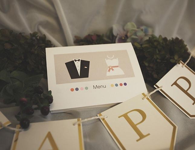 結婚式メニュー表-アワーストーリー 手作りメニュー表