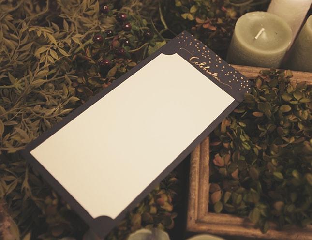 結婚式メニュー表-エトワール 手作りメニュー表