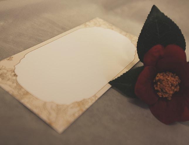 結婚式メニュー表-桜sakura和風 手作りメニュー表