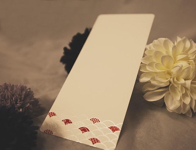 結婚式メニュー表-神楽(かぐら)和風 手作りメニュー表