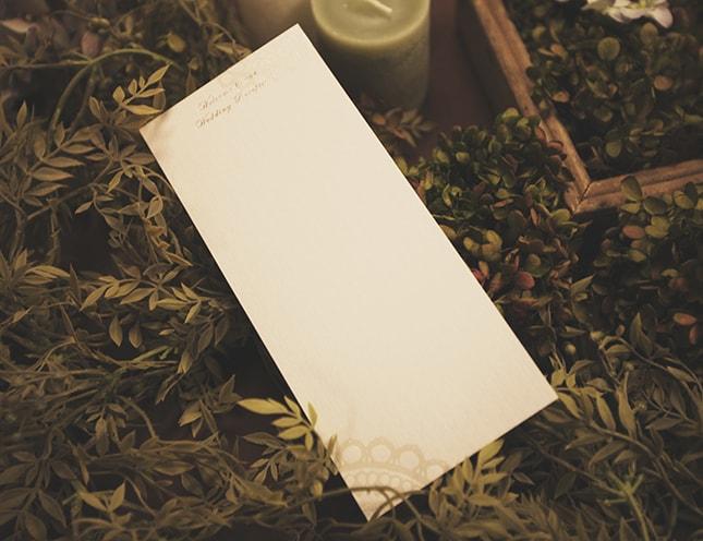 結婚式メニュー表-ルミエール 手作りメニュー表