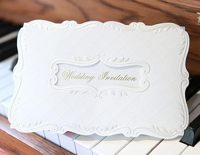 結婚式招待状-【手作り招待状】ピアニッシモ