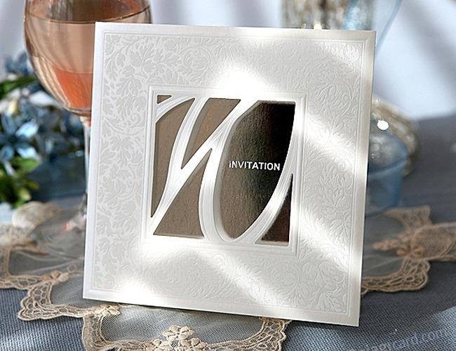 結婚式招待状-ミラー