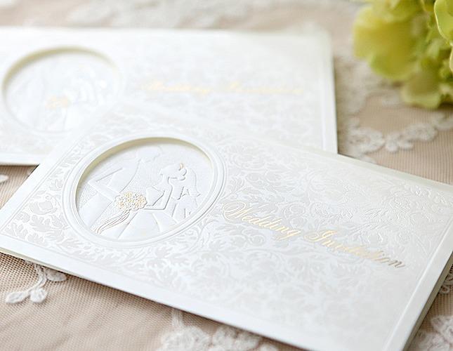 結婚式招待状-【手作り招待状】レース