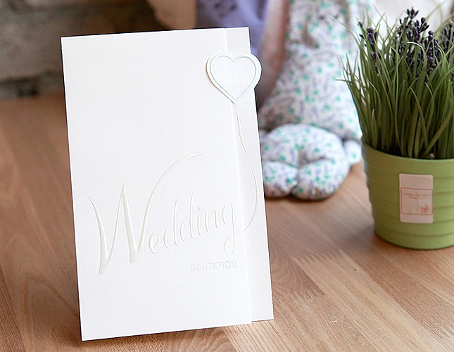 結婚式招待状-バルーン 招待状