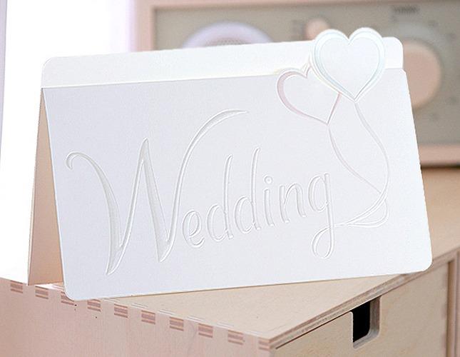 結婚式招待状-スノーハート 招待状