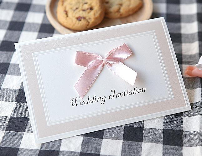 結婚式招待状-【手作り招待状】ピュアピンク