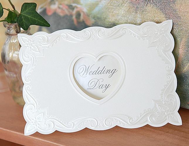 結婚式招待状-【手作り招待状】ホワイトフレーム