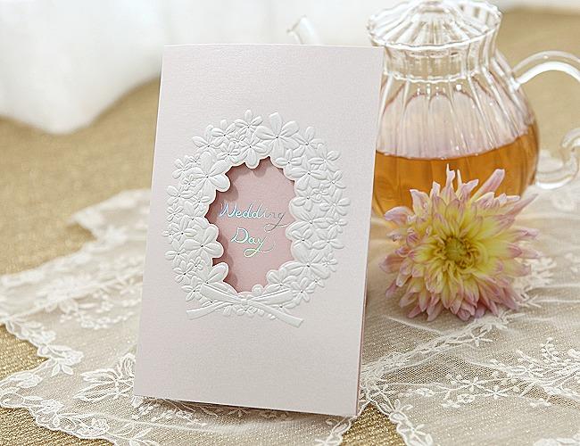 結婚式招待状-【手作り招待状】フラワーリース