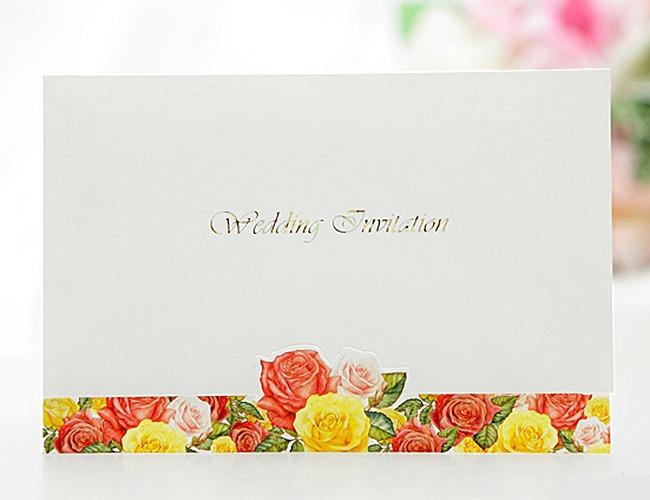 結婚式招待状-【手作り招待状】ローズガーデン