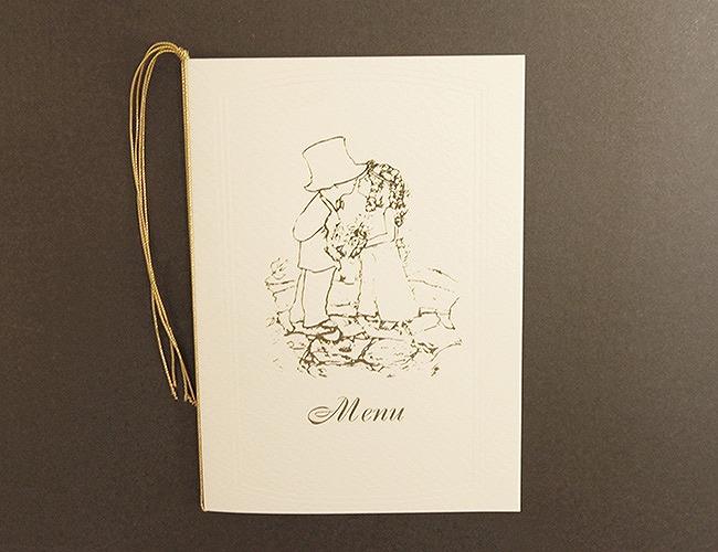 結婚式メニュー表-アベニール  手作りメニュー表